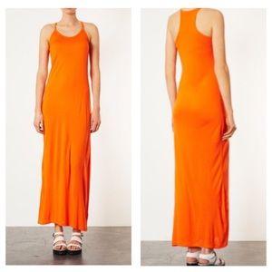 TOPSHOP Orange Strappy Cami Maxi Dress